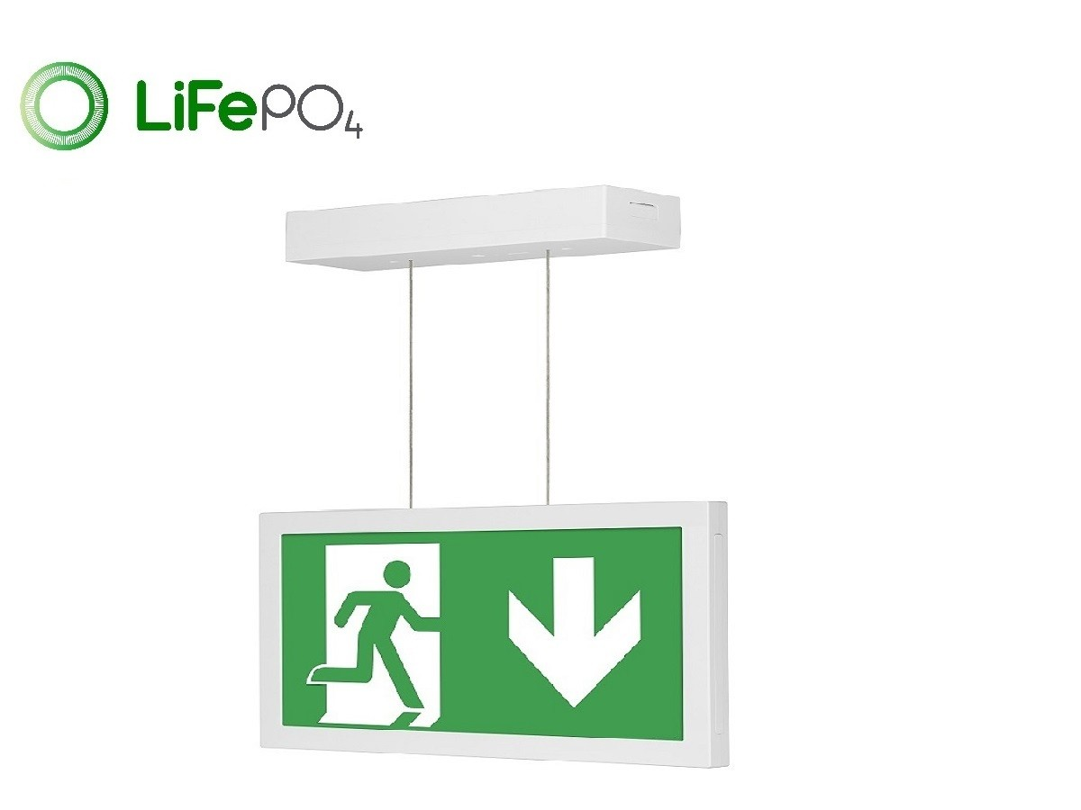 CE2S Suspended Exit Sign