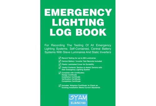 A4 Syam Emergency Lighting Log Book